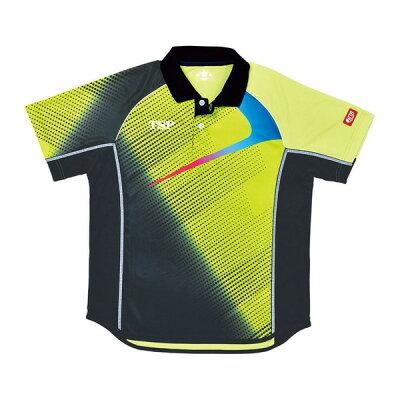 tsp 卓球ゲームシャツ エクレールシャツ男女兼用ジュニアサイズ 031426 カラーライム サイズ l