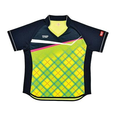 tsp 卓球ゲームシャツ レディスサナールシャツ女子用 032415 カラーライム サイズ l