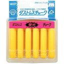 日本理化学工業 ダストレス蛍光チョーク 6本入 黄 DCK-6-Y PTY4502