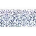 decolfa(デコルファ) インテリアマスキングテープ 幅10cm×長さ8m巻き ダマスク/ブルー