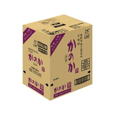 芋焼酎 かのか黒麹・白麹あわせ仕上げ 25度 紙パック 1.8L×6