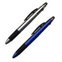 ナカトシ タッチペン付3色油性ボールペン0.7芯10入 銀メタリックブルー各5本