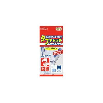 ゴム作業用背抜き手袋 タフキャッチ Mサイズ(1双)