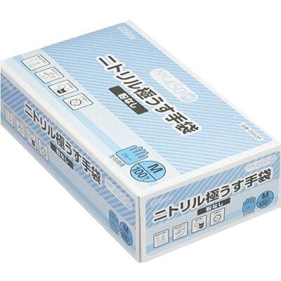 ダンロップ NK450 ニトリル 極うす手袋 ブルー M 1枚