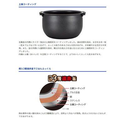 タイガー IH炊飯ジャー 炊きたてtacook 5.5合 JKT-J101 パールブラウン(1台)