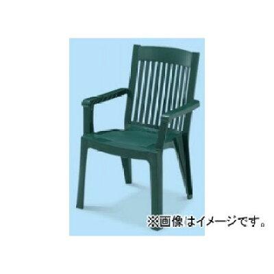 テラモト MZ-595-351-1 ガーデンチェア グリーン