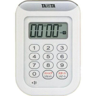 タニタ 丸洗いタイマー100分計 ホワイト TD-378-WH(1台)