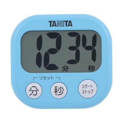 タニタ でか見えタイマー アクアミントブルー TD-384-BL(1台)