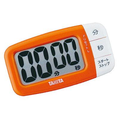 タニタ デジタルタイマー でか見えプラス オレンジ TD-394-OR(1台)