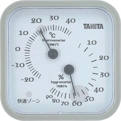 タニタ 温湿度計 グレー TT557GY(1個入)