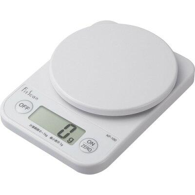 タニタ デジタルクッキングスケール ホワイト KF-100-WH(1台)