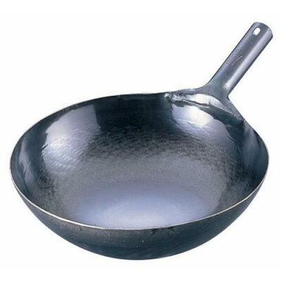 山田 鉄 打出し片手中華鍋(板厚1.6mm) 33cm(1コ入)