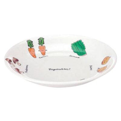 メラミンお子様食器 ベジタ村 54-VV 18cm皿 RSLH201