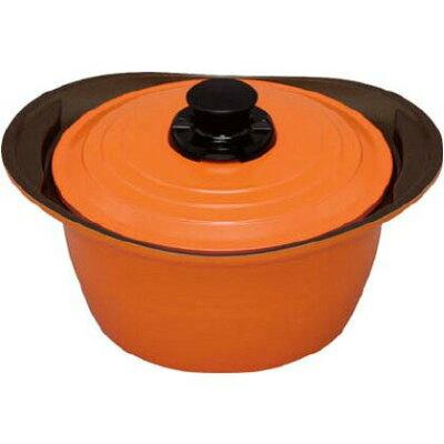 IH対応 キッチンシェフ 無加水鍋 24cm 深型 オレンジ MKS-P24D(1コ入)
