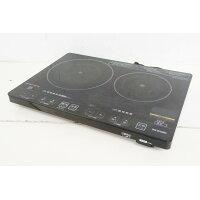 アイリスオーヤマ 2口IHクッキングヒーター(1400W) 音声タイプ ブラック EIH1470V-B