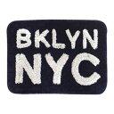 ハンドメイドマット ブルックリン B NYC BLU