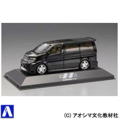 青島文化教材社 1/43 VIPカー No.8 ケンスタイル NEWエルグランド (黒)