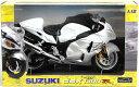 1/12 完成品バイク SUZUKI GSX1300RハヤブサLTD ホワイト スカイネット