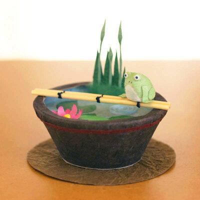めでたや遊び 睡蓮鉢