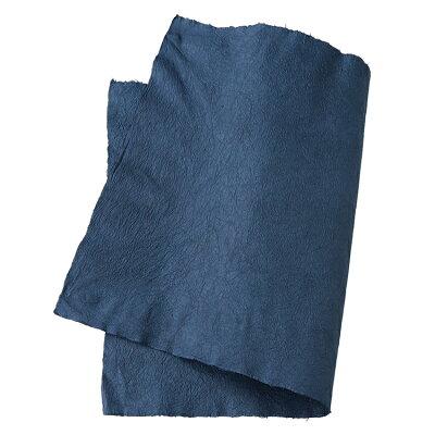 手すき和紙強制紙 藍 約90cm×60cm 耳付き