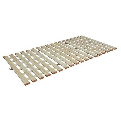 3つ折れマットレスに最適 薄型軽量桐すのこベッド3つ折れ式 シングル LYT-210/