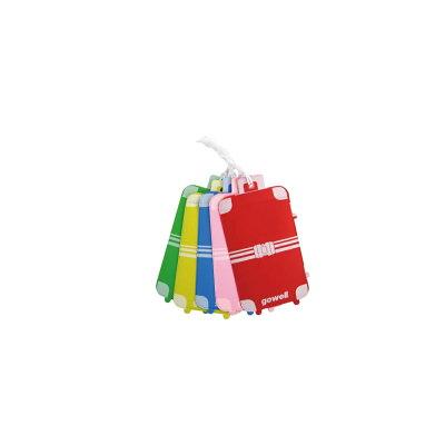 ネームタグ gowell ネームタグ    ネームタグ ねーむたぐ スーツケース キャリー 旅行に便利なスーツケース型のネームタグ !