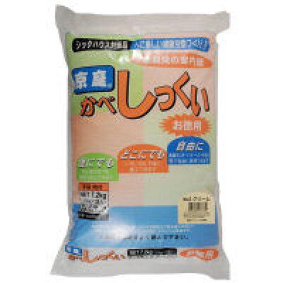 家庭化学工業 京庭かべしっくい (カラーNO.2 クリーム) 7.2kg