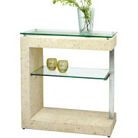 コンソールテーブル モダン ガラステーブル 北欧 サイドテーブル 高級 花台 飾り台 幅75cm