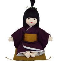 (日本人形)京おさな 男の子 パープル