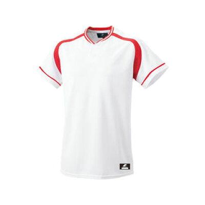 SSK/エスエスケイ BW2200-1020 2ボタンプレゲームシャツ ホワイト×レッド