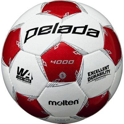 モルテン molten サッカーボール ペレーダ4000 ホワイト×メタリックレッド 5号球 F5L4000-WR