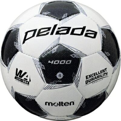 molten サッカーボール 4号球 ペレーダ4000 ホワイト メタリックブラック f 4000