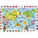 チャイルドパズル ミッキーマウスと世界地図であそぼう! 60ピース DC-60-145 テンヨー