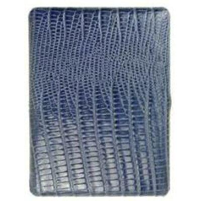 坪田パール 1-04480-30 リザードパターンキップレザー コスモス9   ブルー