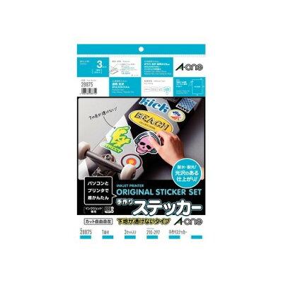 手作りステッカー   ホワイトフィルムラベル+透明保護フィルムラベルA4判 ノーカット 各3シート[2009/9発売]