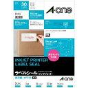 インクジェットプリンタラベル 光沢紙ラベルA4判 3面 ファイル・表示用   10シート(30片)
