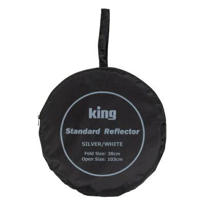 キング 撮影用レフ板 スタンダードレフ S/W 31cm 白枠(1個)