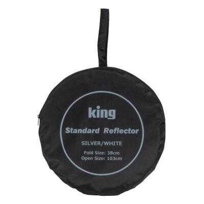 キング 撮影用レフ板 グリップレフ S/W 82cm 白枠(1個)