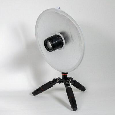 キング 撮影用レフ板 マクロレフ S/W 31cm 白枠 ホール付(1個)