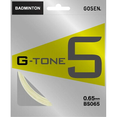ゴーセン GOSEN G-TONE 5 BS065 ナチュラル