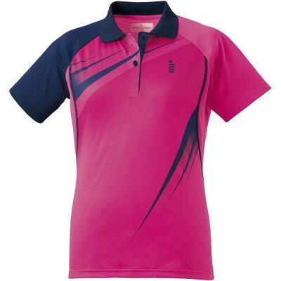 GOSEN T1601 レディースゲームシャツ T1601 カラー ピンク サイズ XL