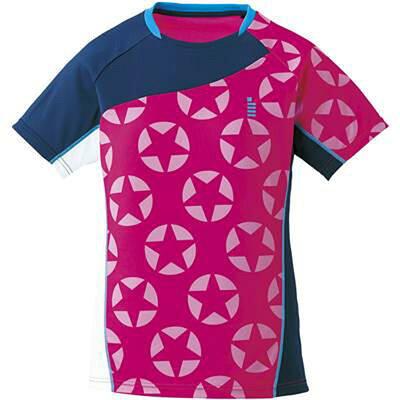 ゴーセン レディースホシガラゲームシャツ T1711 色 : ピンク サイズ : XL
