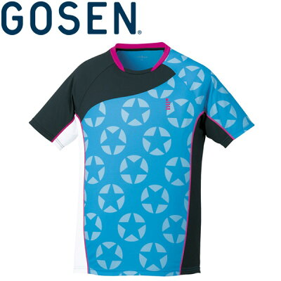 GOSEN(ゴーセン) UNI 星柄ゲームシャツ T1714 テニスウェア 2017SS KPI