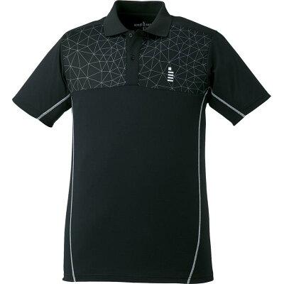 gosen テニスバドミントンウェア ゲームシャツ t1720 ブラック xl