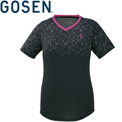 GOSENゴーセンLADIES ゲームシャツ T1903 ブラック S