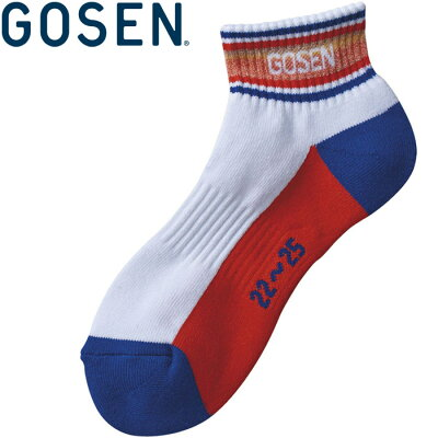 ゴーセン GOSEN テニスウェア レディース ショートソックス F1907 2019SS