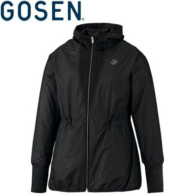 GOSEN ゴーセン レディース ウインドジャケット Y1965 ブラック S