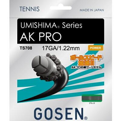 GOSEN ゴーセン ウミシマAKプロ17ブラック TS708BK