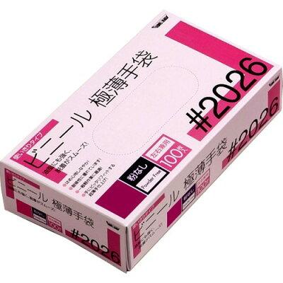 グローブマニア ビニール使い切り手袋 粉なし 2026 クリア L(100枚入)