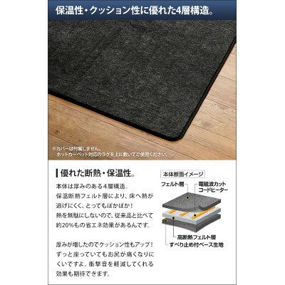 ゼンケン 電気ホットカーペット 2畳タイプ(本体のみ)(1台)